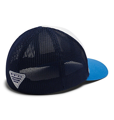 PFG Mesh™ Seasonal Ball Cap PFG Mesh™ Seasonal Ball Cap | 101 | L/XL, White, Coll Navy, Dark Pool, back
