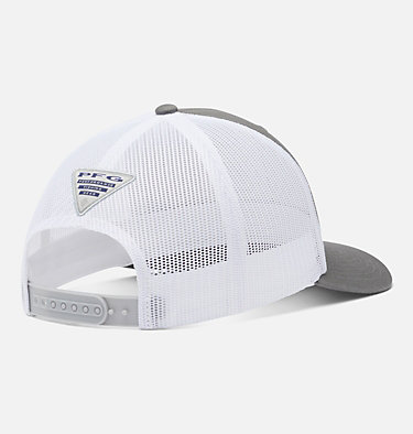 PFG Mesh Snap Back™ Fish Flag Ballcap PFG Mesh Snap Back™ Fish Flag Ball Cap | 372 | O/S, Titanium, White, back