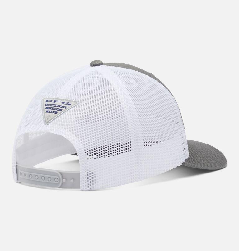 PFG Mesh Snap Back™ Fish Flag Ball Cap   049   O/S PFG Mesh Snap Back™ Fish Flag Ballcap, Titanium, White, back