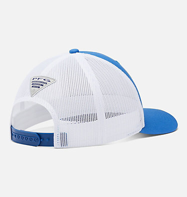 PFG Mesh Snap Back™ Fish Flag Ballcap PFG Mesh Snap Back™ Fish Flag Ball Cap | 372 | O/S, Vivid Blue, White, back