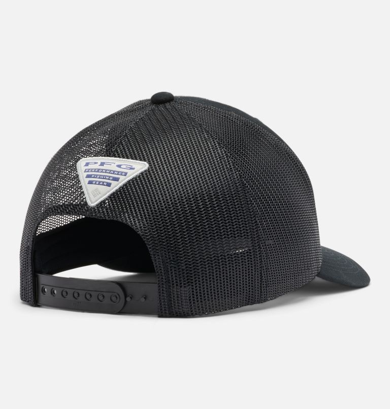 PFG Mesh Snap Back™  Hooks Ball Cap | 010 | O/S PFG Mesh Snap Back™ Hooks Ball Cap, Black, back