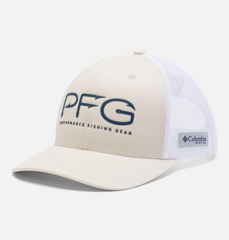 PFG Mesh Snap Back™  Hooks Ball Cap   022   O/S PFG Mesh Snap Back™ Hooks Ball Cap, Stone, Petrol Blue, PFG, front