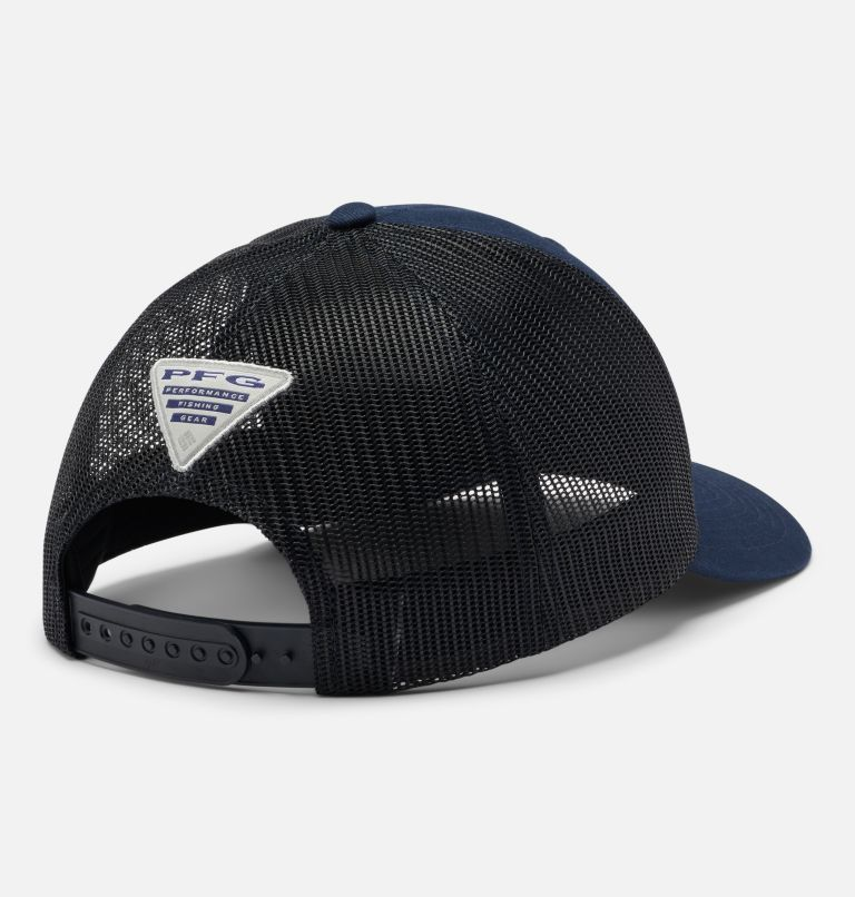 PFG Mesh Snap Back™  Hooks Ball Cap | 464 | O/S PFG Mesh Snap Back™ Hooks Ball Cap, Collegiate Navy, back