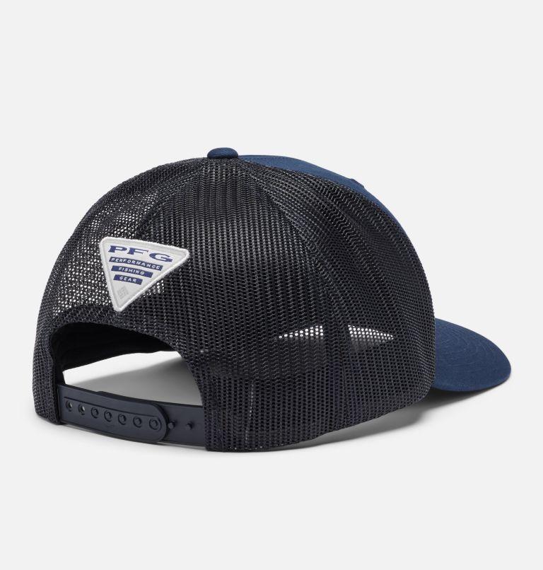 PFG Mesh Snap Back™  Hooks Ball Cap | 465 | O/S PFG Mesh Snap Back™ Hooks Ball Cap, Collegiate Navy, White PFG, back