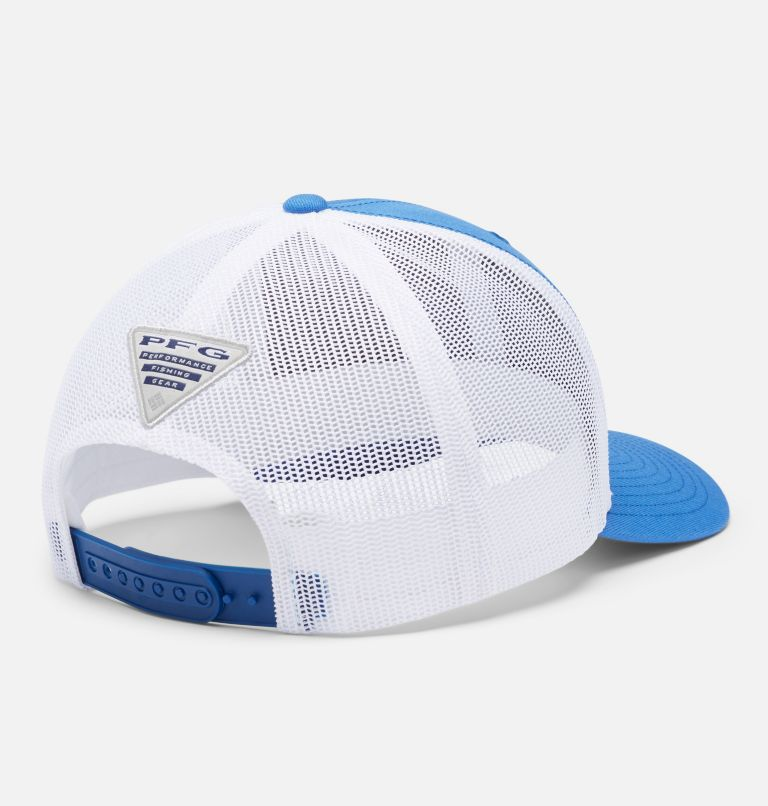PFG Mesh Snap Back™  Hooks Ball Cap | 487 | O/S PFG Mesh Snap Back™ Hooks Ball Cap, Vivid Blue, Rose Gold PFG, back