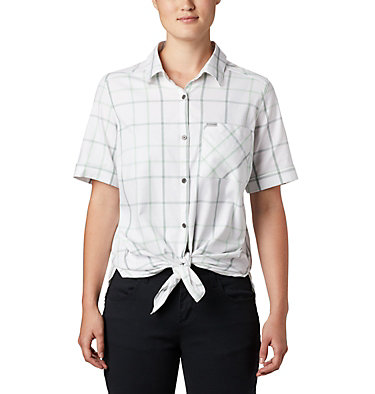 Women's Anytime Casual™ Stretch Short Sleeve Shirt Anytime Casual™ Stretch SS Shirt | 556 | L, New Mint Multi Windowpane, front