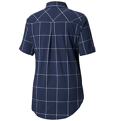 Women's Anytime Casual™ Stretch Short Sleeve Shirt Anytime Casual™ Stretch SS Shirt   490   L, Nocturnal Windowpane, back