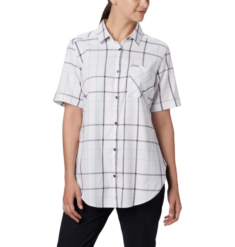 Anytime Casual™ Stretch SS Shirt | 490 | S Women's Anytime Casual™ Stretch Short Sleeve Shirt, Spring Blue Multi Windowpane, a1