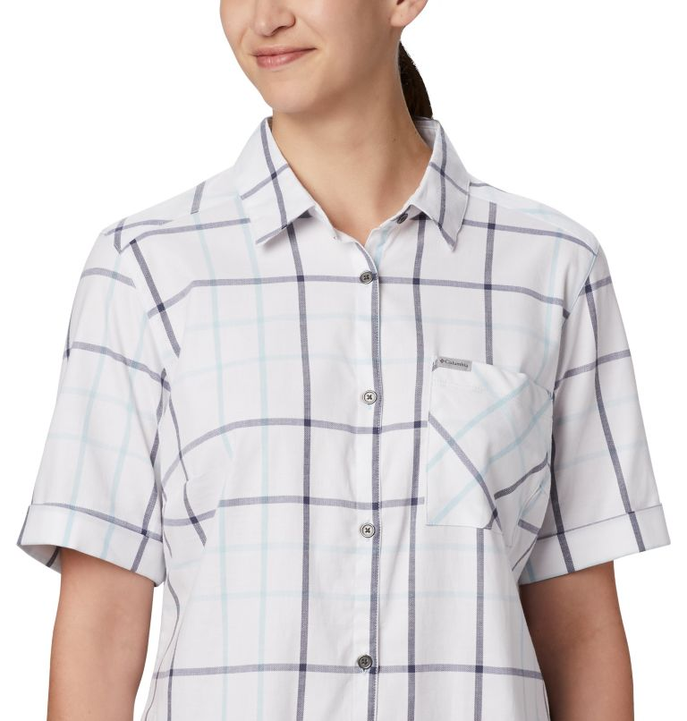 Anytime Casual™ Stretch SS Shirt | 490 | S Women's Anytime Casual™ Stretch Short Sleeve Shirt, Spring Blue Multi Windowpane, a2