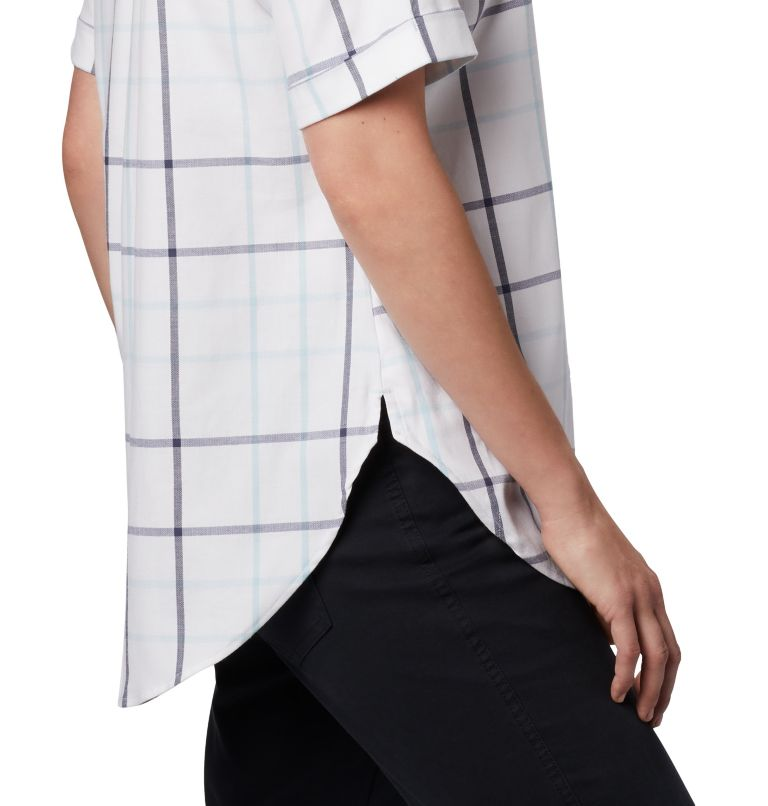 Anytime Casual™ Stretch SS Shirt | 490 | S Women's Anytime Casual™ Stretch Short Sleeve Shirt, Spring Blue Multi Windowpane, a3