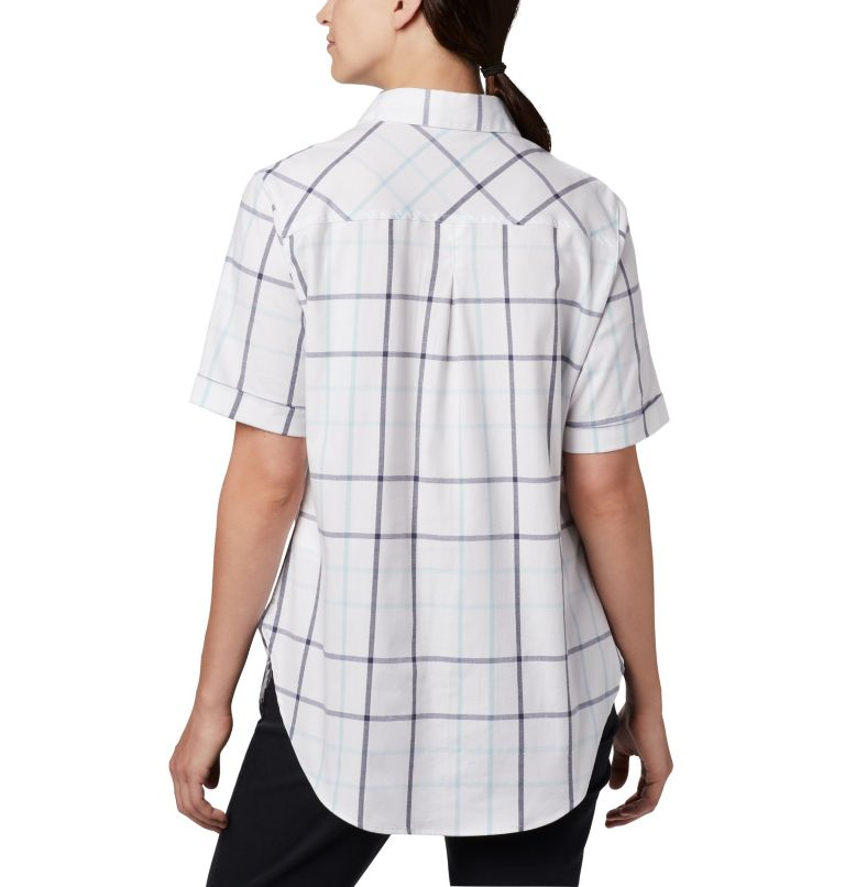 Anytime Casual™ Stretch SS Shirt | 490 | S Women's Anytime Casual™ Stretch Short Sleeve Shirt, Spring Blue Multi Windowpane, back