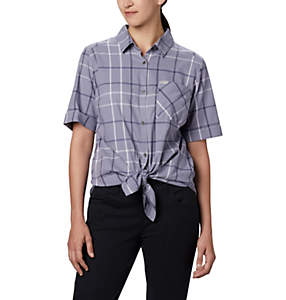 Chemise à manches courtes extensible Anytime Casual™ pour femme