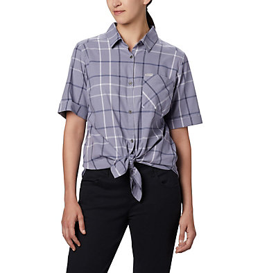 Women's Anytime Casual™ Stretch Short Sleeve Shirt Anytime Casual™ Stretch SS Shirt | 556 | L, New Moon Mutli Windowpane, front
