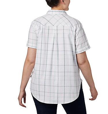 Women's Anytime Casual™ Stretch Short Sleeve Shirt - Plus Size Anytime Casual™ Stretch SS Shirt | 490 | 1X, New Mint Multi Windowpane, back