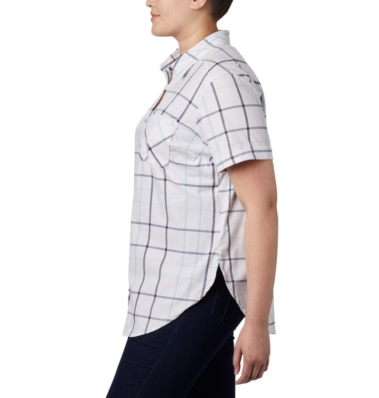Women's Anytime Casual™ Stretch Short Sleeve Shirt - Plus Size Women's Anytime Casual™ Stretch Short Sleeve Shirt - Plus Size, a1