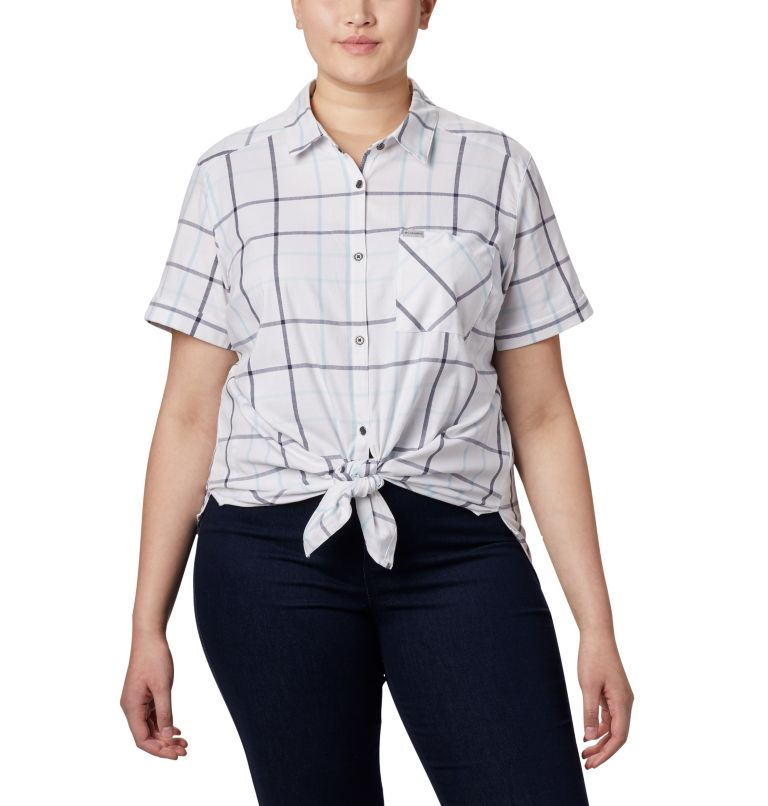 Women's Anytime Casual™ Stretch Short Sleeve Shirt - Plus Size Women's Anytime Casual™ Stretch Short Sleeve Shirt - Plus Size, a3