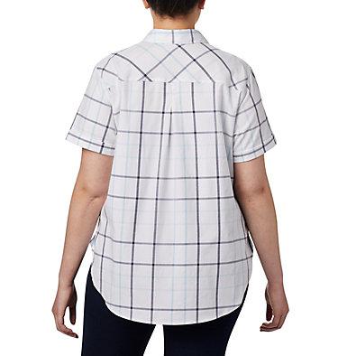 Women's Anytime Casual™ Stretch Short Sleeve Shirt - Plus Size Anytime Casual™ Stretch SS Shirt | 490 | 1X, Spring Blue Multi Windowpane, back
