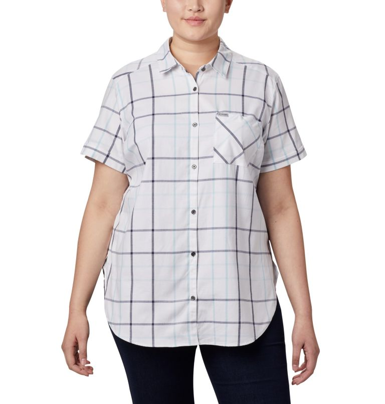 Women's Anytime Casual™ Stretch Short Sleeve Shirt - Plus Size Women's Anytime Casual™ Stretch Short Sleeve Shirt - Plus Size, front