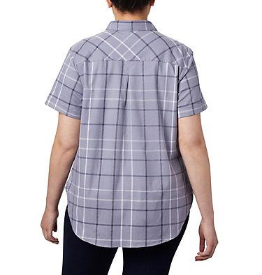 Women's Anytime Casual™ Stretch Short Sleeve Shirt - Plus Size Anytime Casual™ Stretch SS Shirt | 490 | 1X, New Moon Mutli Windowpane, back