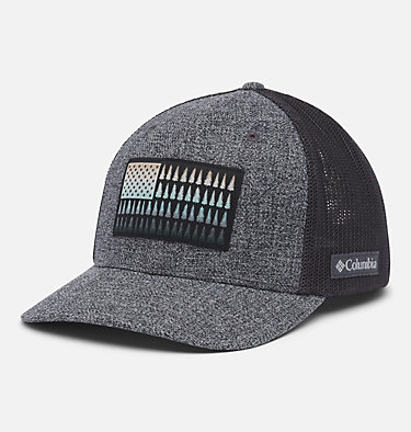 Columbia Mesh™ Tree Flag Ball Cap Columbia Mesh™ Tree Flag Ball Cap | 028 | S/M, Grill Heather, Shark, front