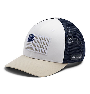 Columbia Mesh™ Tree Flag Ball Cap Columbia Mesh™ Tree Flag Ball Cap | 028 | S/M, White, Carbon, Fossil, front