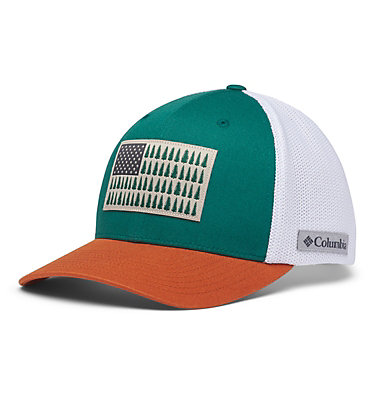 Columbia Mesh™ Tree Flag Ball Cap Columbia Mesh™ Tree Flag Ball Cap | 028 | S/M, Pine Green, front