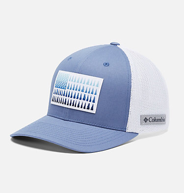 Columbia Mesh™ Tree Flag Ball Cap Columbia Mesh™ Tree Flag Ball Cap | 028 | S/M, Bluestone, White, front
