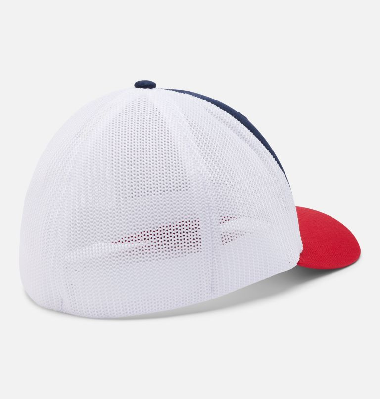 Columbia Mesh™ Tree Flag Ball Cap | 467 | S/M Columbia Mesh™ Tree Flag Ball Cap, Collegiate Navy, White, back