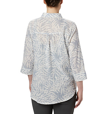 Women's Summer Ease™ Popover Tunic Summer Ease™ Popover Tunic | 693 | XS, Cirrus Grey Wispy Bamboo Print, back