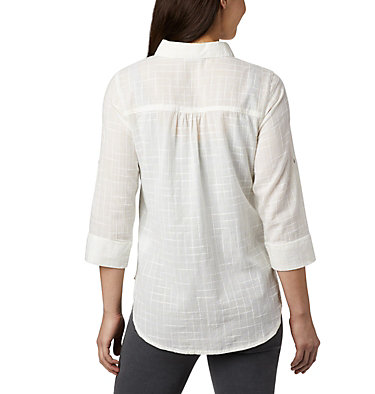 Women's Summer Ease™ Popover Tunic Summer Ease™ Popover Tunic | 648 | M, White Wispy Bamboo Print, back