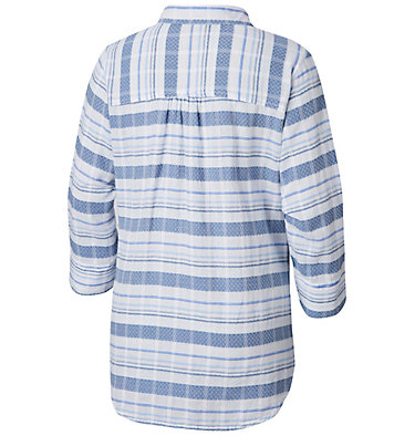 Women's Summer Ease™ Popover Tunic Summer Ease™ Popover Tunic | 693 | XS, Blue Dusk Stripe, back