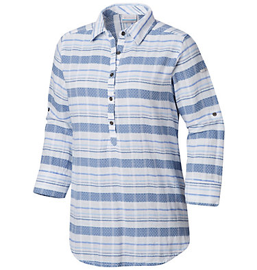 Women's Summer Ease™ Popover Tunic Summer Ease™ Popover Tunic | 693 | XS, Blue Dusk Stripe, front