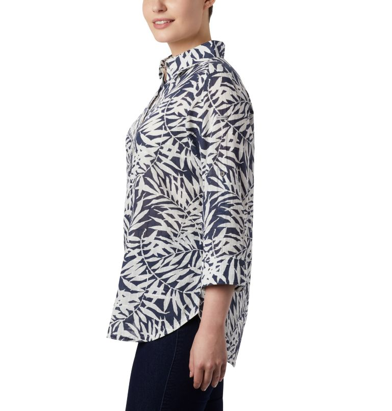 Summer Ease™ Popover Tunic | 467 | XS Tunique à Enfiler Summer Ease™ Femme, Nocturnal Wispy Bamboo Print, a3