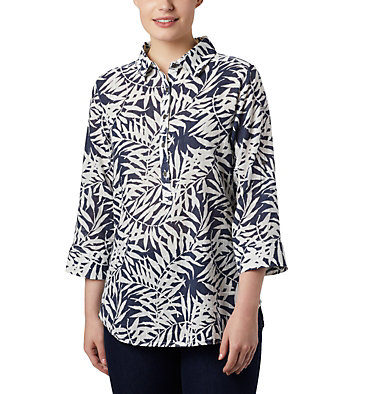 Tunique à enfiler Summer Ease™ pour femme Summer Ease™ Popover Tunic | 340 | M, Nocturnal Wispy Bamboo Print, front