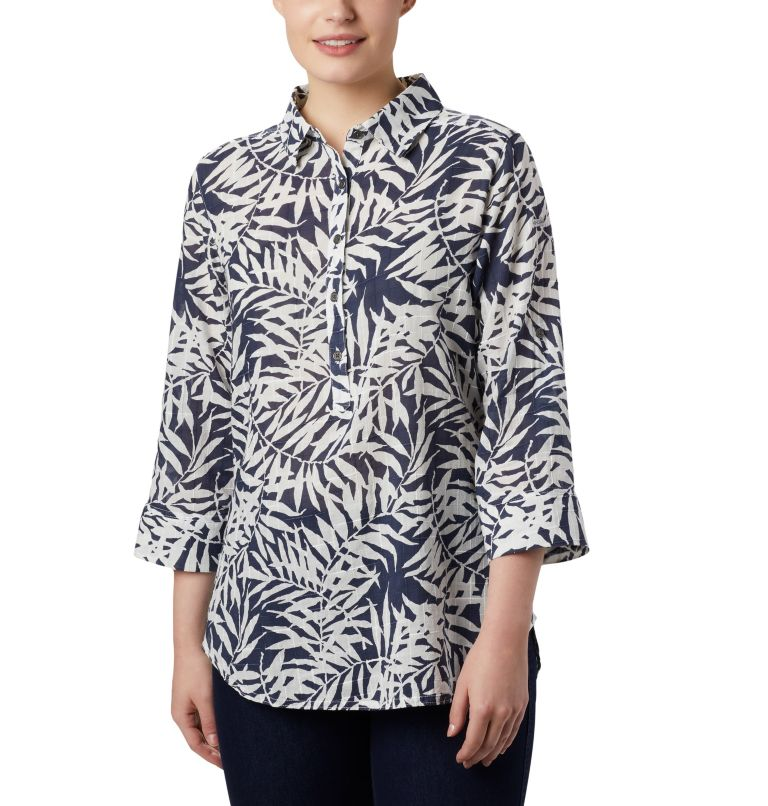 Summer Ease™ Popover Tunic | 467 | XS Tunique à Enfiler Summer Ease™ Femme, Nocturnal Wispy Bamboo Print, front