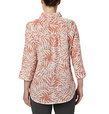 Women's Summer Ease™ Popover Tunic Summer Ease™ Popover Tunic | 693 | XS, Cedar Blush Wispy Bamboo Print, back