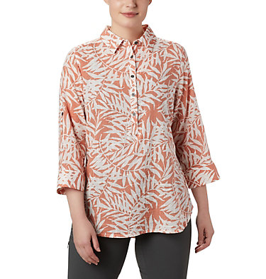 Women's Summer Ease™ Popover Tunic Summer Ease™ Popover Tunic | 648 | M, Cedar Blush Wispy Bamboo Print, front