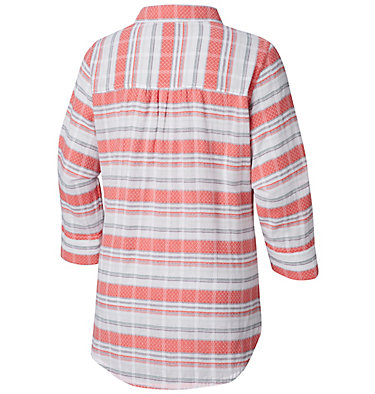 Women's Summer Ease™ Popover Tunic Summer Ease™ Popover Tunic | 693 | XS, Coral Bloom Stripe, back