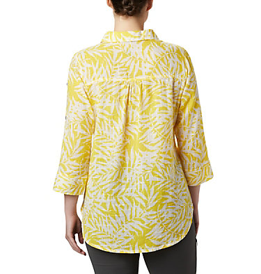 Women's Summer Ease™ Popover Tunic Summer Ease™ Popover Tunic | 693 | XS, Buttercup Wispy Bamboo Print, back