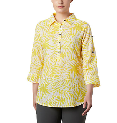 Tunique à enfiler Summer Ease™ pour femme Summer Ease™ Popover Tunic | 340 | M, Buttercup Wispy Bamboo Print, front