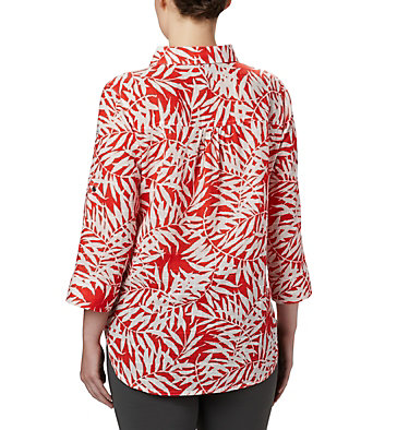 Tunique à enfiler Summer Ease™ pour femme Summer Ease™ Popover Tunic | 340 | M, Bright Poppy Wispy Bamboo Print, back
