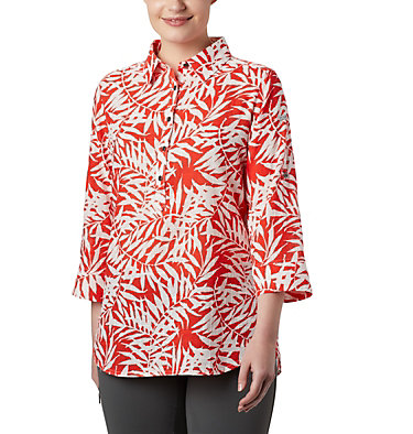 Tunique à enfiler Summer Ease™ pour femme Summer Ease™ Popover Tunic | 340 | M, Bright Poppy Wispy Bamboo Print, front
