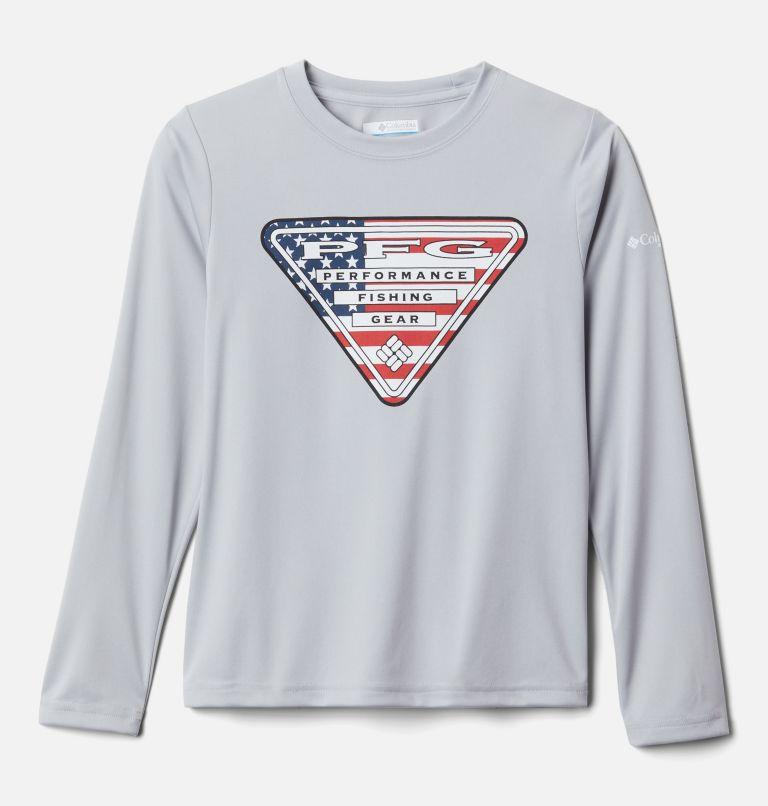 Kids' PFG Terminal Tackle™Triangle Fill Long Sleeve Shirt Kids' PFG Terminal Tackle™Triangle Fill Long Sleeve Shirt, front