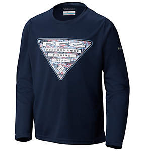 Boys' Terminal Tackle™ Triangle Fill Long Sleeve Shirt