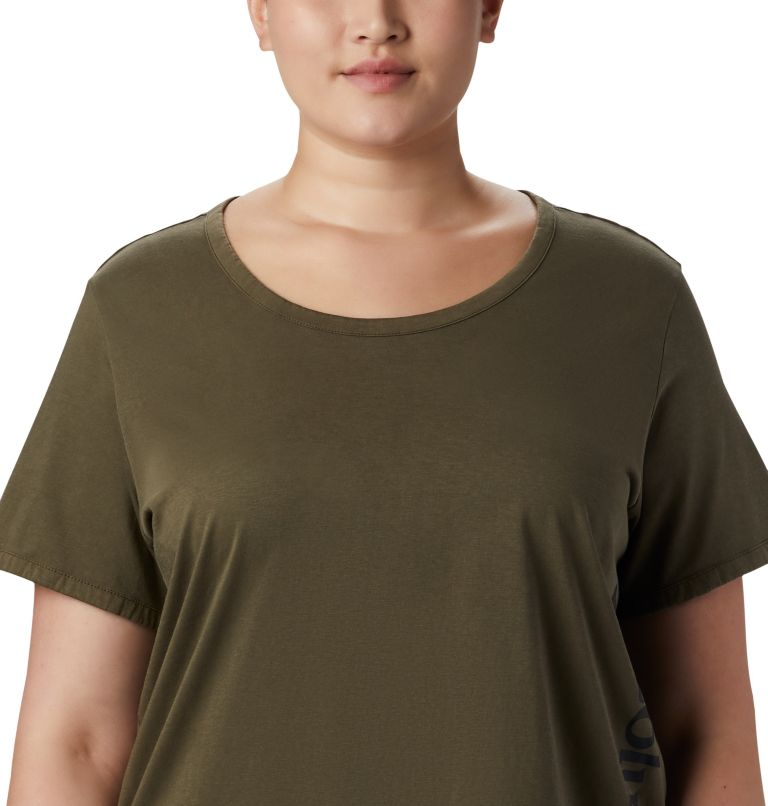 CSC™ W Pigment Tee | 319 | 2X Women's CSC™ Pigment Tee—Plus Size, Olive Green, a1