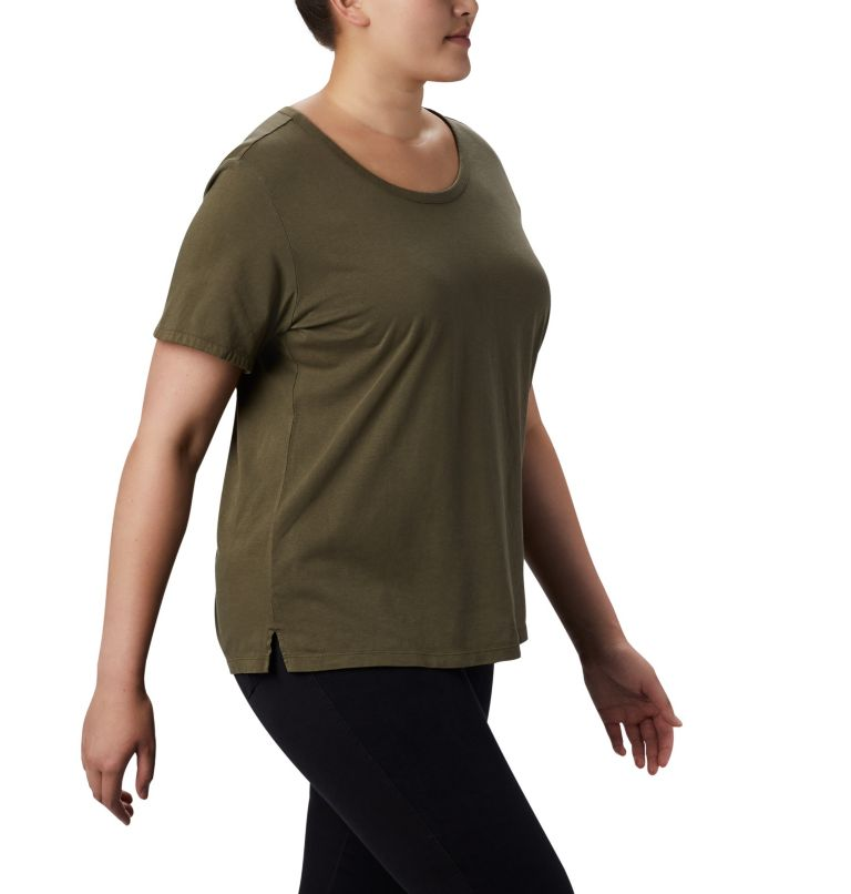 CSC™ W Pigment Tee | 319 | 2X Women's CSC™ Pigment Tee—Plus Size, Olive Green, a3