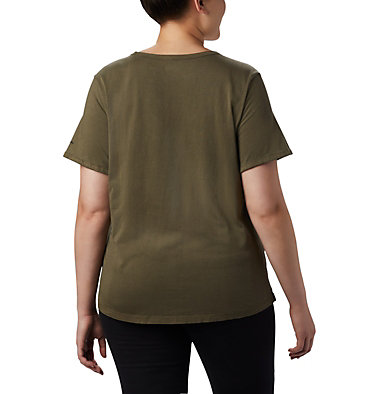 Women's CSC™ Pigment Tee—Plus Size CSC™ W Pigment Tee | 319 | 2X, Olive Green, back