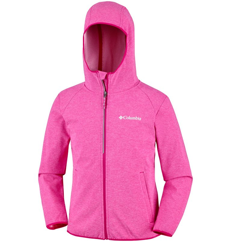 Heather Canyon™ Softshell Jack | 627 | L Youth Heather Canyon™ Softshell Jacket, Haute Pink Heather, a1