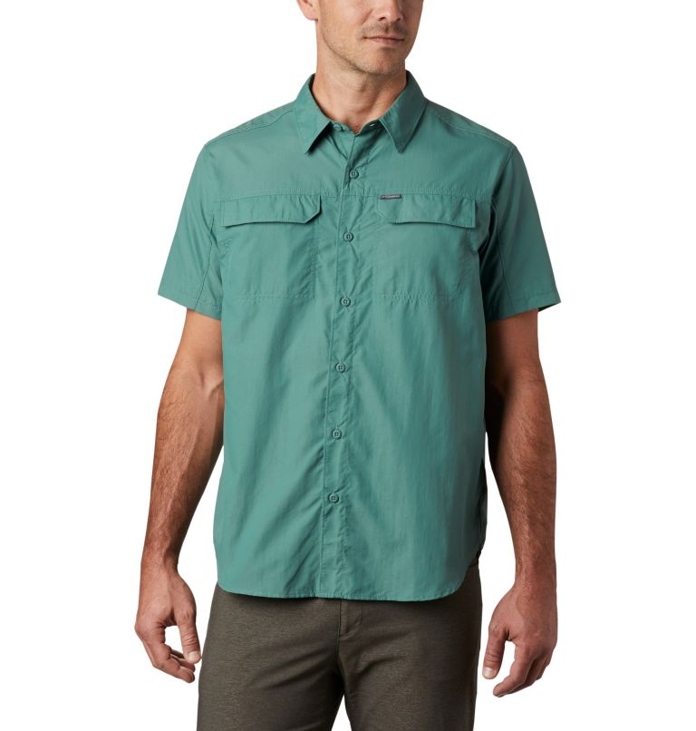 Silver Ridge™ 2.0 Short Sleeve Shirt   369   XXL Men's Silver Ridge™ 2.0 Short Sleeve Shirt, Thyme Green, front