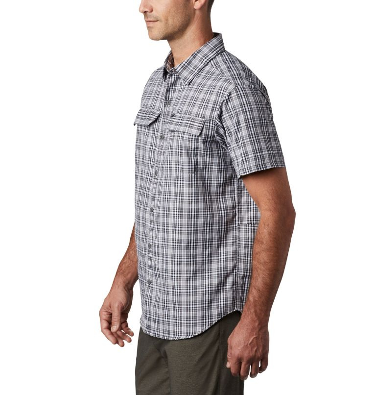 Silver Ridge™ 2.0 Multi Plaid S/S Shirt | 011 | L Men's Silver Ridge™ 2.0 Multi Plaid Short Sleeve Shirt, Black Gingham, a1